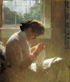 The Sunny Window by Frank Weston Benson