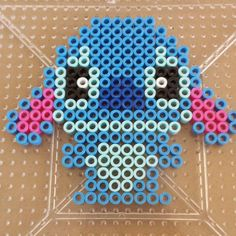 Stitch perler beads by aimees_handmade Perler Bead Designs, Perler Bead Templates, Hama Beads Design, Diy Perler Beads, Perler Bead Art, Melty Bead Patterns, Pearler Bead Patterns, Perler Patterns, Beading Patterns