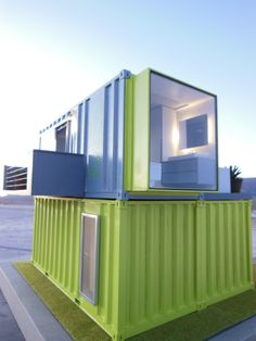 Shipping container houses are the hallmarks of architectural recycling. These are Intermodal Steel Building Units, or ISBUs