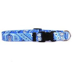 Bandana Blue Break Away Cat Collar