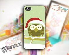 Christmas OWL - design for iPhone 5 Black case