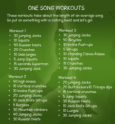 Easy workouts to do @Home. One song is all toy need
