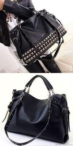TIFENNY Woman Fashion Rivet Button Design Shoulder Bag Vintage square Messenger Bag New Handbags