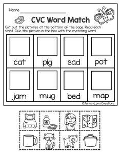 Kindergarten Freebies, Kindergarten Literacy, Preschool Learning, Kindergarten Language Arts, Teaching Phonics, Literacy Centers, Phonics Worksheets, Cvc Words, Success