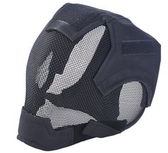Airsoft Mask Full Face Mask War Game Steel Mesh Protective Mask Black