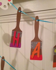 ART or PAINT PARTY  Happy Birthday Banner  Can be by SweetBitesMs, $20.00