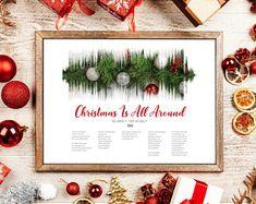 Sound Waves, Digital Art, Etsy Seller, Greeting Cards, Create, Christmas, Xmas, Weihnachten, Yule
