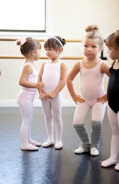 Dance class. Those leg warmers are too cute!!