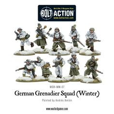 New: German Grenadiers in Winter Clothing - Warlord Games Military Figures, Military Diorama, Bolt Action Miniatures, Lead Adventure, Plastic Soldier, Man Of War, Military Gear, Miniature Figurines, German Army