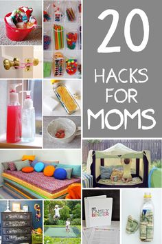 Great round-up to make your life easier or more fun - 20 hacks for moms via Kids Activities Blog