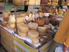 Formaggio (cheese) vendor at the Sunday Market in Camisano, Italy outside of Vicenza.