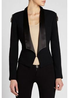 Philipp Plein - 'Peerless' Blazer Black | Sophisticated blazer enriched with applications of shining rhinestones and crystals.