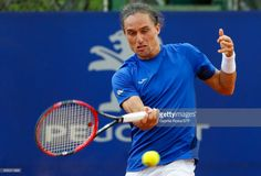 Alexandr Dolgopolov of Ukraine takes a forehand shot during a first round match between Alexandr Dolgopolov of Ukraine and Janko Tipsarevic of Serbia as part of ATP Argentina Open at Buenos Aires Lawn Tennis Club on February 14, 2017 in Buenos Aires, Argentina.