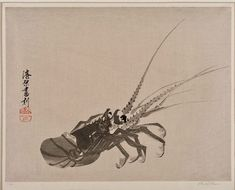Crayfish  Object: Colour woodcut  Place of origin: Japan (made)  Date: c.1920 (made)  Artist/Maker: Urushibara, Yoshijiro, born 1888 - died 1953 (artist)  Materials and Techniques: colour woodcut. Victoria and Albert Museum.