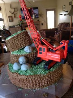 First cake. Birthday boy was 80 year old retired crane operator