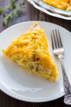 A quick and easy recipe for Cheese Potato Pie. This hearty dish is the perfect side for almost any meal!