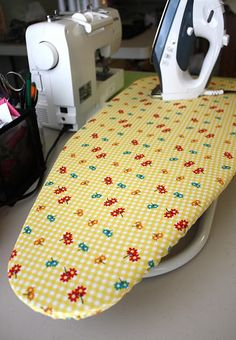 """Ironing Board Cover Tutorial. I """"sew"""" need to do this. My Ironing board cover is getting a little shabby."""