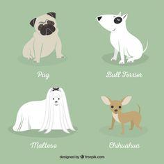 Dog breeds illustration Premium Vector