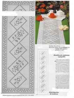 Photo from album Crochet Table Topper, Crochet Table Runner Pattern, Crochet Snowflake Pattern, Crochet Doilies, Crochet Patterns, Holiday Crochet, Crochet Home, Crochet Symbols, Filet Crochet Charts