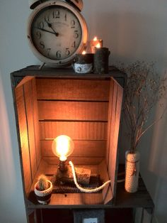 Lamp with a real tree branch. The socket looks industrial and looks great with the vintage Edison lamp. Perfect to give your house a industrial and natural look. available at WoodWoolDesign (on Etsy and Dawanda)