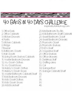 40 bags in 40 days challenge (decluttering)