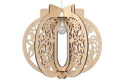 luminária de bambu
