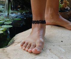 Black Lace Black Bracelet Handmade Lace by FashionAndScarves Lace Bracelet, Lace Jewelry, Black Laces, Handmade Bracelets, Shop, Lace Up, Store, Homemade Bracelets
