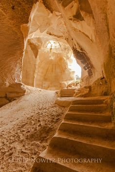 Israel - Beit Guvrin National Park's cave like cisterns cut from soft rock used to store water