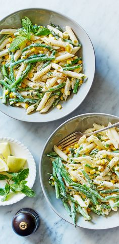 Cook a bright and sweet pasta dish with the additions of goat cheese, corn, and green beans. And the best part? It's gluten free! Order Martha & Marley Spoon to get the recipe and ingredients for this meal delivered to your door!