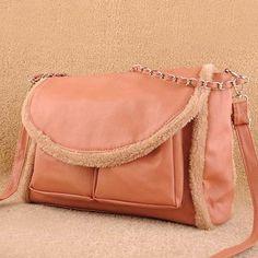 Fukiko - Women's fashion #pink #shoulderbags plush design