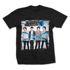 5 Seconds Of Summer Album Artwork on a 100% Cotton Black T-Shirt.
