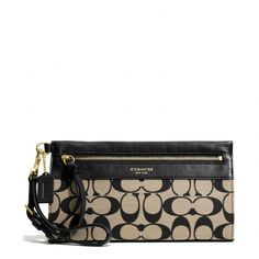 The Legacy Large Wristlet In Printed Signature Fabric from Coach