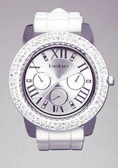 Gel Rubber Strap Watch $49.00 #bebe.com