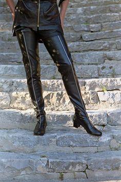 Pumps schwarz Gr. 37 Leder, Spitze Lack von Ara Hattingen in