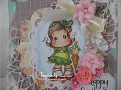 """TinyWorks: Card Happy Easter """"Dt Simply Magnolia"""""""