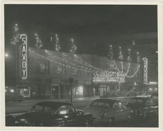 View of the Savoy Ballroom at night, on Lenox Avenue between and Streets, in Harlem, New York, circa 1950 From New York Public Library Digital Collections.