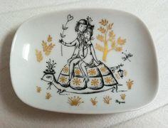 Vintage Rosenthal Peynet 'Lovers' dish