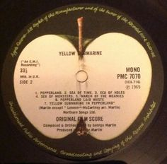 Yellow Submarine UK Mono PMC 7070 1969 monoral