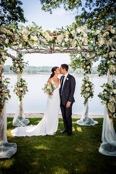 Forget ideas about a ballroom or beach affair, because this New York lakeside wedding with a country French theme is where it's at. Wedding Ceremonies, Wedding Venues, Luxury Wedding, Dream Wedding, Lakeside Wedding, Wedding Inspiration, Wedding Ideas, Big Day, Wedding Planning