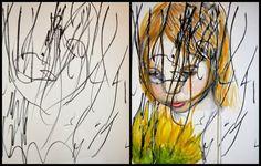 Des peintures à partir des gribouillis de sa fille: Ruth Oosterman