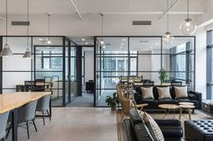 Gallery of Haihui Co-working Space / – 12 – Modern Corporate Office Design Open Concept Office, Cool Office Space, Office Space Design, Modern Office Design, Workspace Design, Office Spaces, Office Designs, Work Spaces, Working Space Design