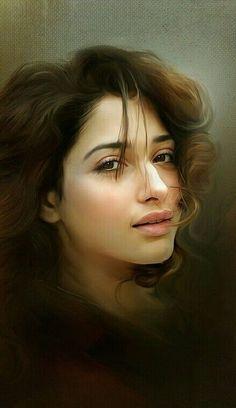 Beautiful Bollywood Actress, Most Beautiful Indian Actress, Beautiful Actresses, Beauty Full Girl, Beauty Women, Ravivarma Paintings, Samantha Pics, Studio Background Images, Painting Of Girl