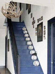 calabazas en escaleras