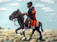 "Pintura Molina Campos sobre el ""Gaucho"" Horse Art, Western Art, Woodstock, Art Tutorials, Caricature, Folk Art, Westerns, Horses, Cartoon"