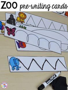 Preschool Zoo Theme, Preschool Centers, Preschool Writing, Preschool Lessons, Preschool Learning, Writing Activities, Rainforest Preschool, Teaching, Kindergarten Literacy