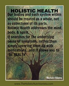 Further into the idea of holistic health, we examine each part and system as a whole. From here we are able to identify what is truly the root cause of our symptoms, with creates a healthier lifestyle.