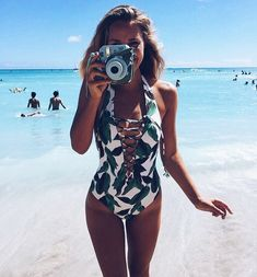 Cheap suit swim, Buy Quality swimwear swimming directly from China suits for women Suppliers: Sexy Lace Up Swimwear Women One Piece Swimsuit 2018 1 Thong Bathing Suit Beach Wear Bandage Monokini Swimming Suit For Women Bikini Babes, The Bikini, Sexy Bikini, Bikini Beach, Swimsuits 2017, Women's One Piece Swimsuits, Monokini, Casual Chique, Cute Bathing Suits