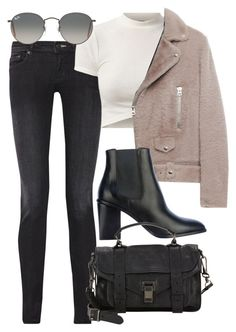 """""""Untitled #3976"""" by style-by-rachel ❤ liked on Polyvore featuring Acne Studios, Ray-Ban, Yves Saint Laurent and Proenza Schouler"""