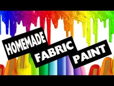 (73) DIY | How to make Fabric Paint No Cook - Easy DIY Crafts - simplekidscrafts - YouTube