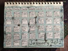 Sketchbook-January calendar done